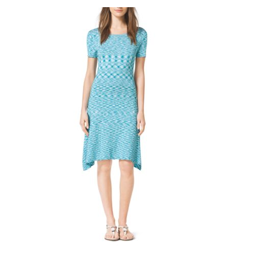 MICHAEL MICHAEL KORS Space-Dyed Jersey Dress TURQUOISE